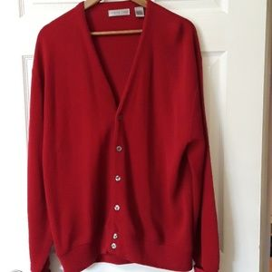 Cypress Links  Sz XL Red V-neck  Sweater made USA